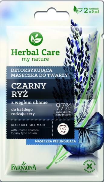 Черна-детокс маска за лице черен ориз Farmona Harbal Care